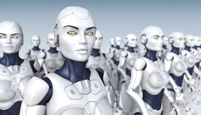 Android Робот проповедует буддийскую мудрость в древнем японском храме