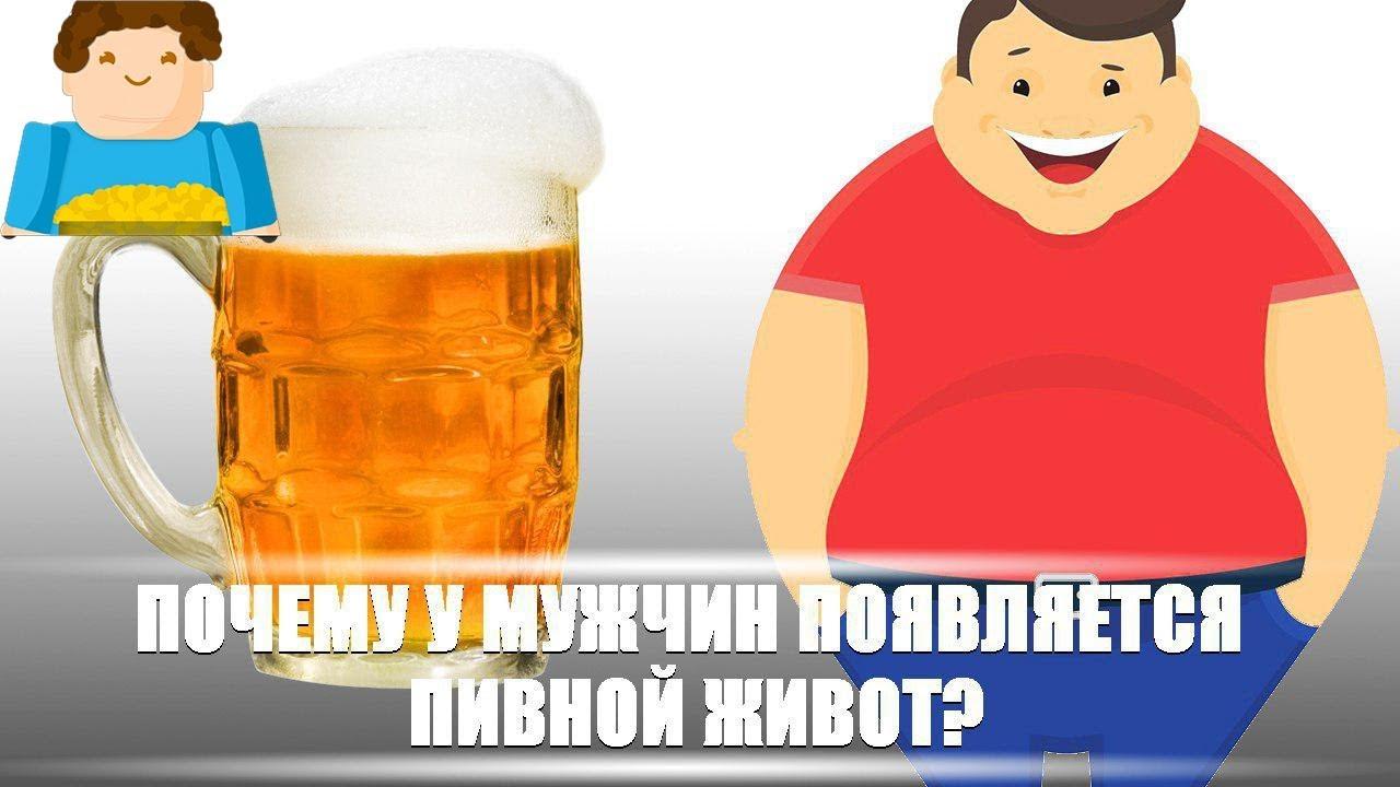 Почему у мужчин появляется пивной живот?