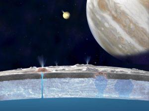 Космические исследования спутника Юпитера Европа.