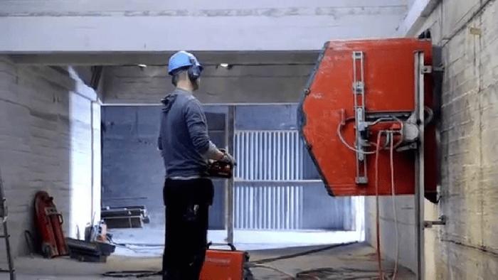 Как режут бетон