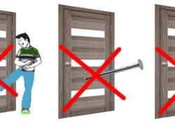 межкомнатными дверями