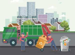 Вывоз мусора после уборки придомовой территории
